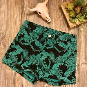 {h&m} tropical palm banana leaf printed shorts 8